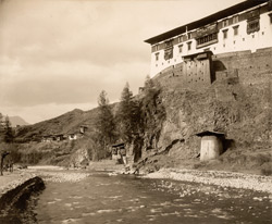 Paro Jong from the right bank of the Par Chhu [Bhutan]